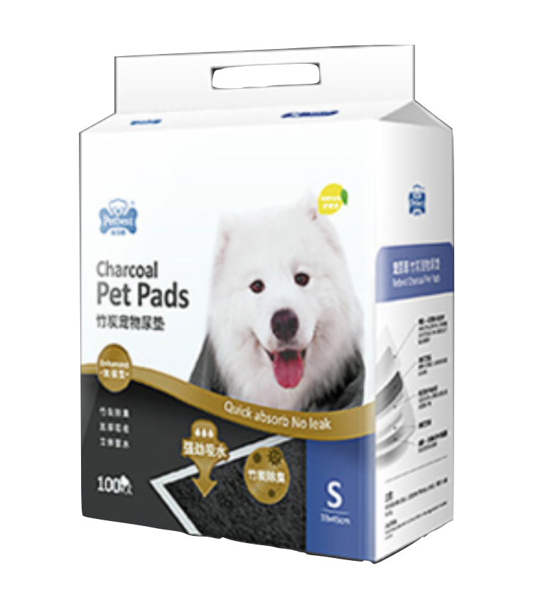 PETBEST 【宠百思】Charcoal Training Pads / Wee Wee Pads / Urine Pads 竹炭柠檬香宠物尿垫 S Size (33cm x 45cm) 100pcs