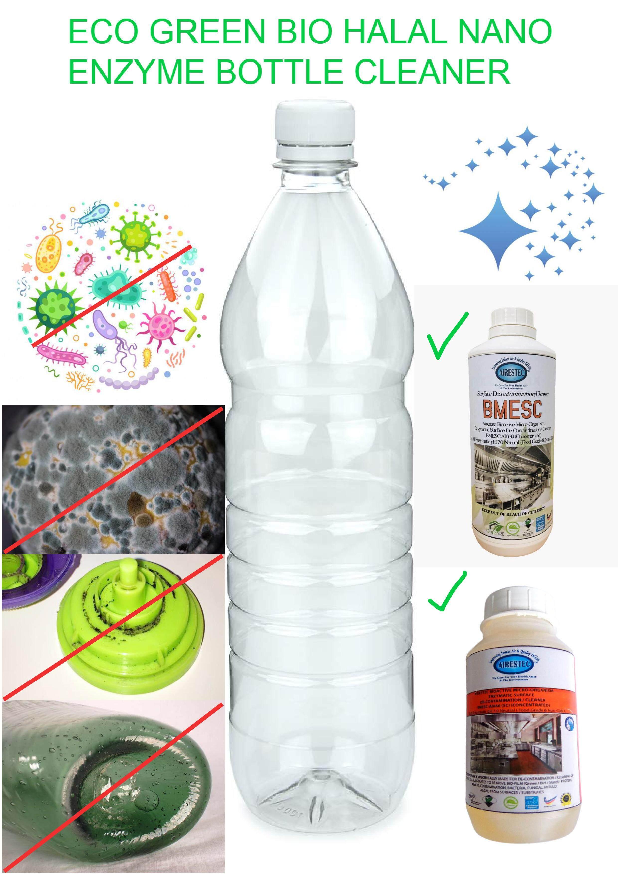 Eco Green Bio Halal Nano Enzyme Bottle Cleaner / Wash - Mini (250 ml) #Airestec #bioenzymes #bio #eco-label #green #ecofriendly #eco #halal #non-corrosive #neutral #foodgrade #child-friendly #pet-friendly #biodegradable #safe