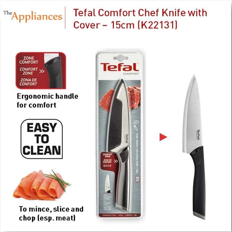 Tefal Comfort Chef Knife with Cover (15cm)