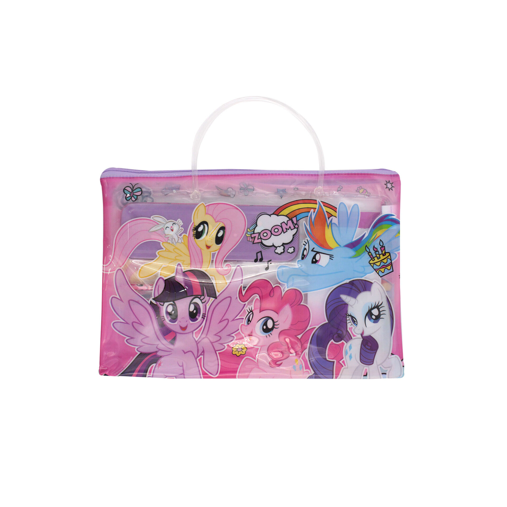 My Little Pony Ville 6 in 1 Stationery Set With Pencil Case, Pencil, Eraser, Ruler, Sharperner, Notepad (Girls)