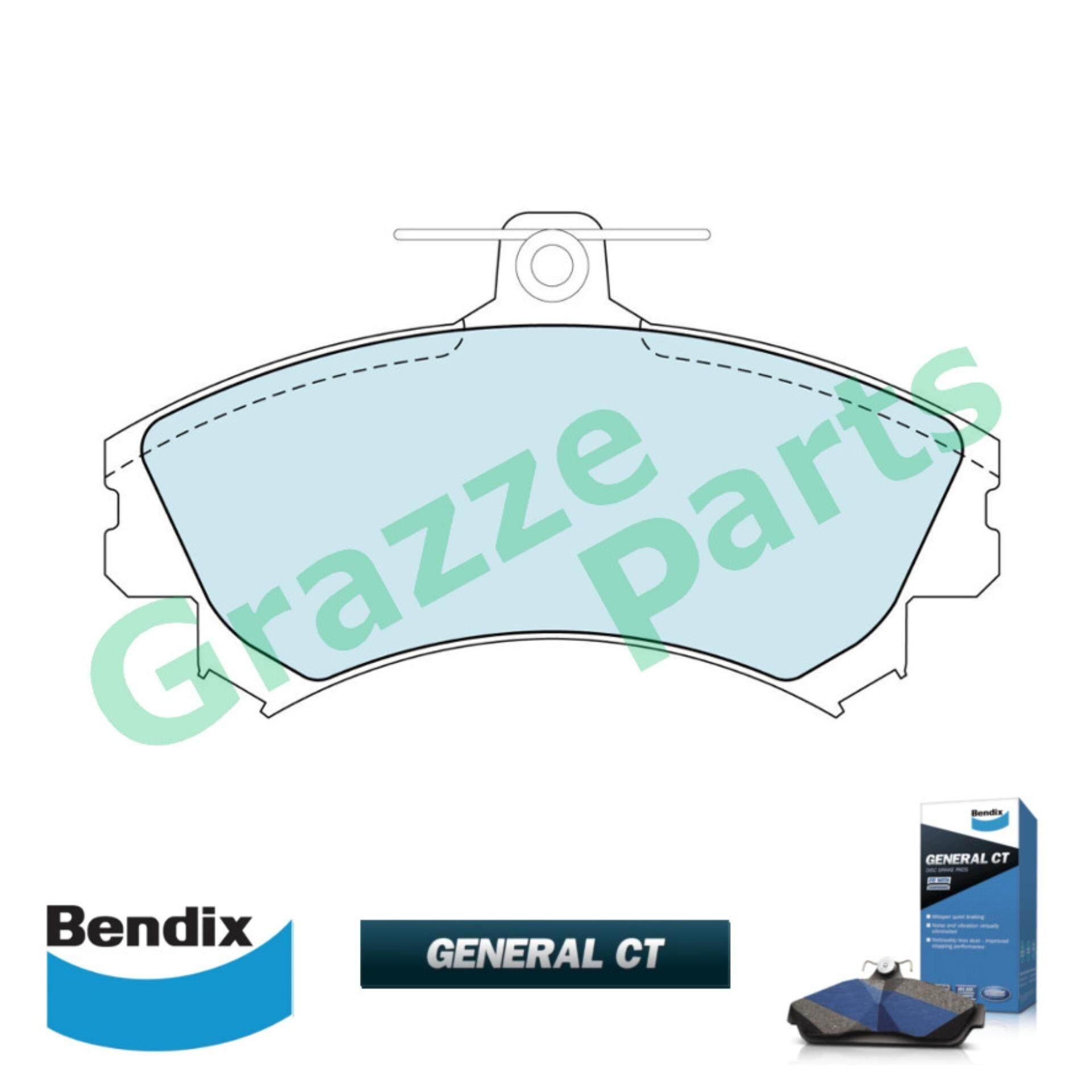 Bendix General CT Disc Brake Pad Front for DB1402 - Proton Waja 1.6 Perodua Alza 2009-2012 Volvo S40 Smart For 4