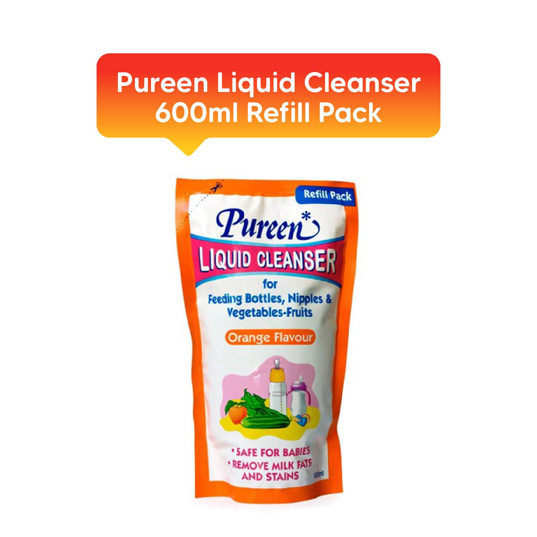 PUREEN Liquid Cleanser 600ml Refill Pack (mint / no flavor / orange)