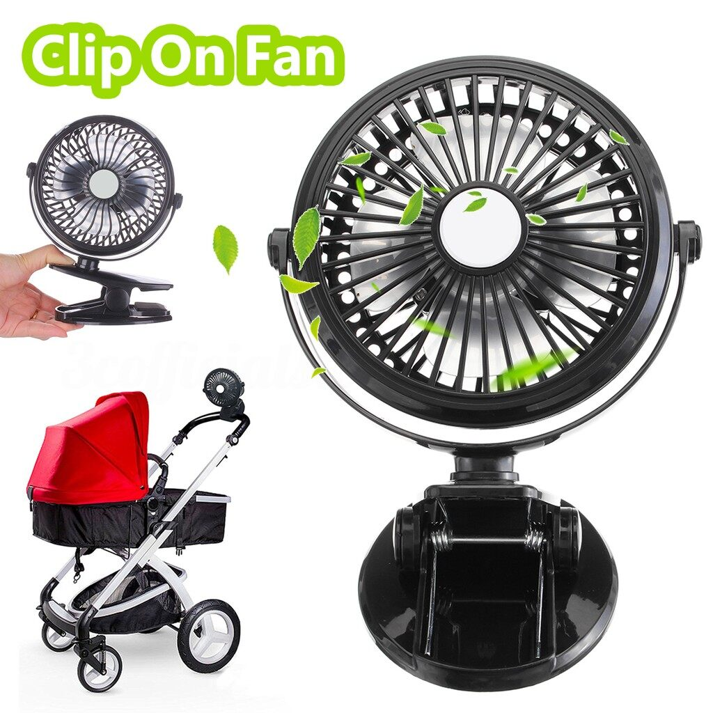 USB Fan - Clip On MINI Electric Cooling Fan PORTABLE Oscillating Small Table Rechargeable - Cool Gadgets
