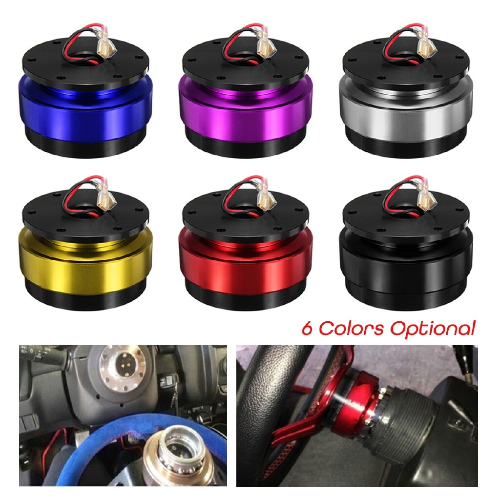 Moto Accessories - Car Auto Steering Wheel Quick Release Hub Adapter Boss Aluminum Alloy Snap Off - GOLDEN / SILVER / PURPLE / BLACK / BLUE / RED
