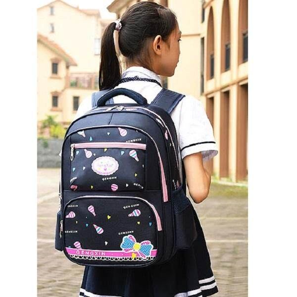 Dark Blue Ultra Light Kids Primary School Bag