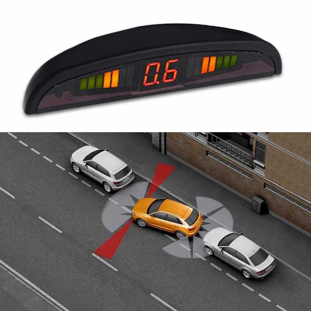 Car Reverse Backup Radar System 4 Parking Sensor with LED Display (Standard)