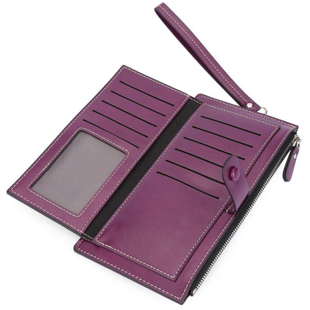 BAELLERRY WALLET WITH CARD HOLDER PHONE POCKET (PURPLE)