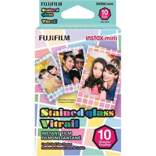 FUJIFILM INSTAX Mini Stained Glass Instant Film (10 Sheets)
