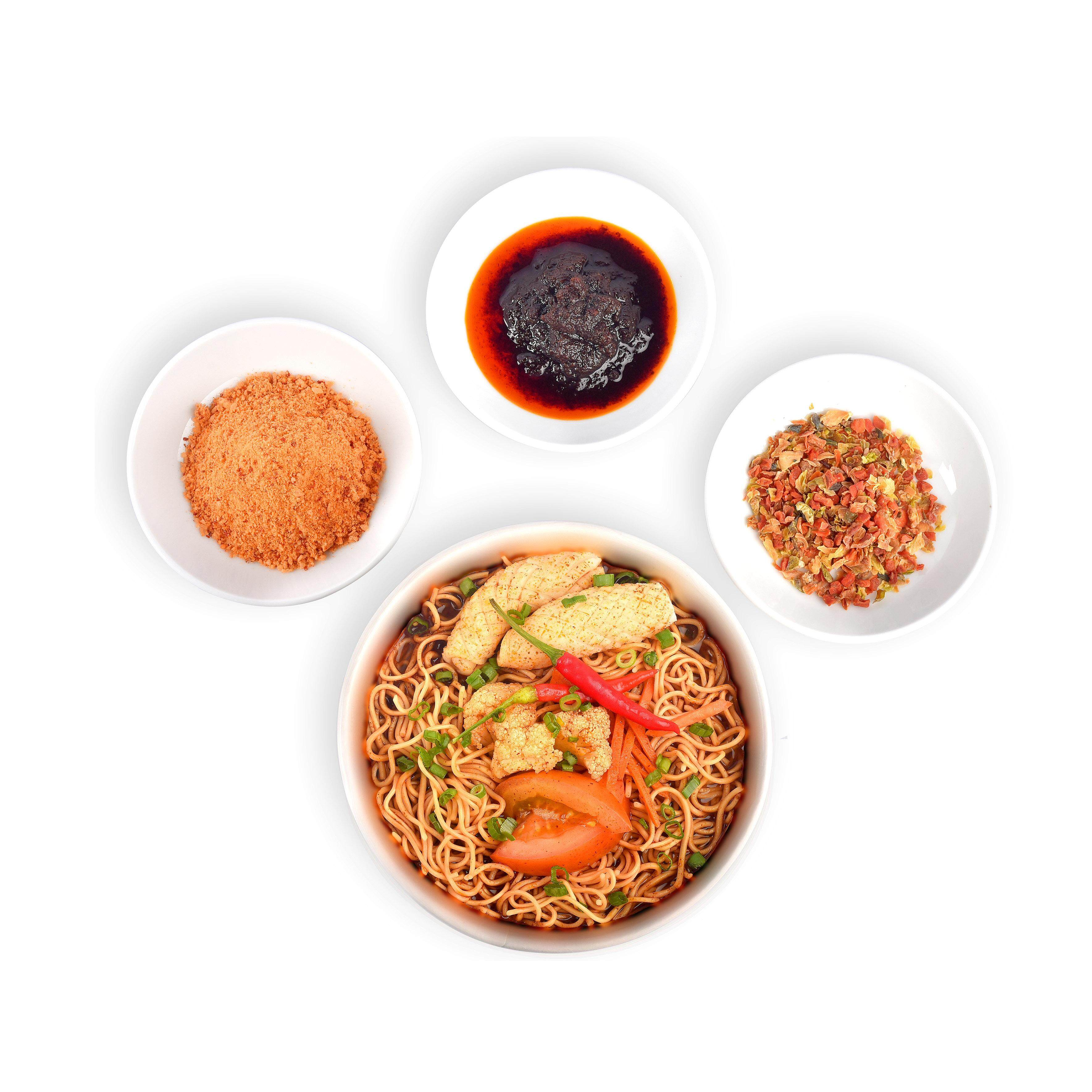 Box of 4 Instant Noodle Tom Yam Soup Flavour (NDLES express) / 4 Mee Segera Perasa Sup TomYam (NDLES express)
