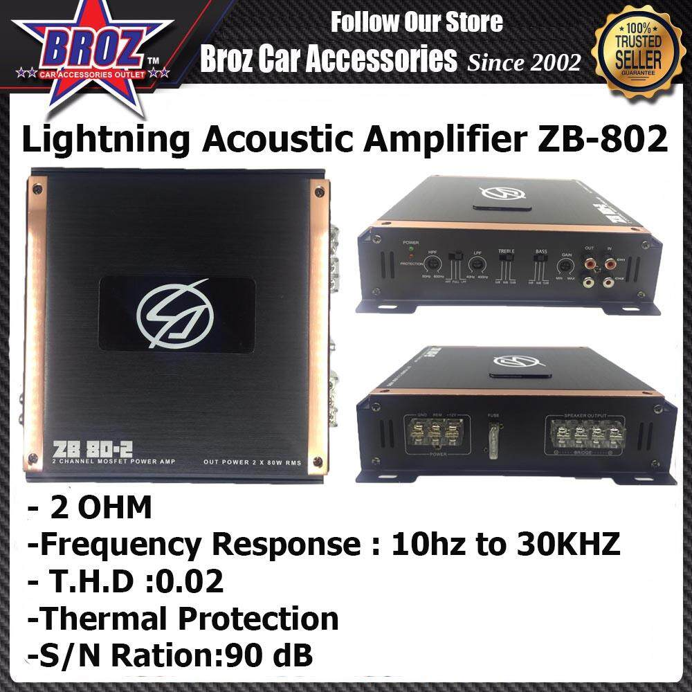 Lightning Acoustic ZB802 2-Channel High Power Amplifier