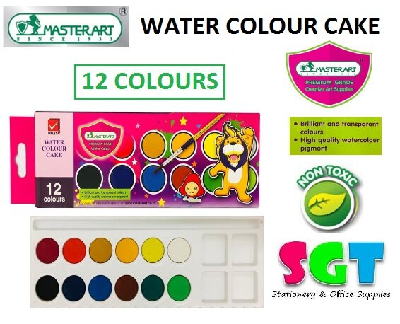 MASTER ART Water Colour Cake (12 colours)