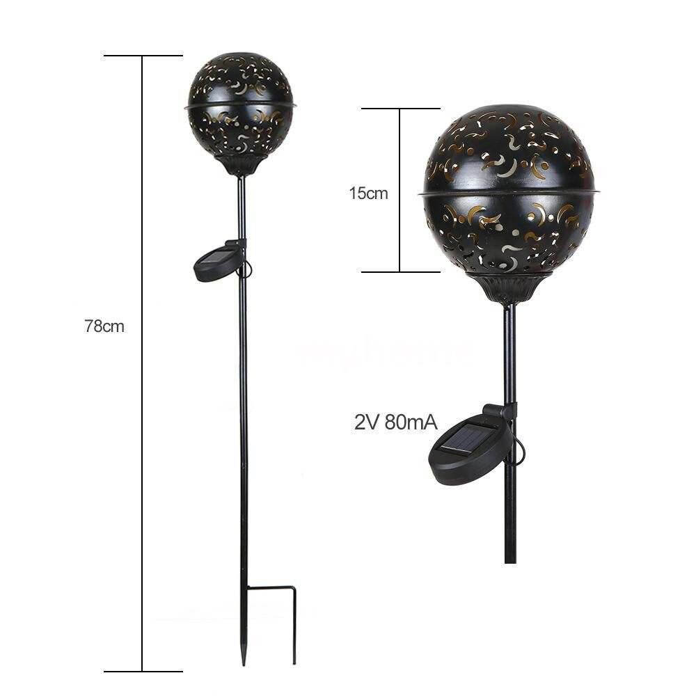 Outdoor Lighting - Garden Solar Light Globe Stake Lawn Lamp IP55 Water-resistant Outdoor Lights for Walkway Lawn - WARM WHITE-78CM / WARM WHITE-60CM