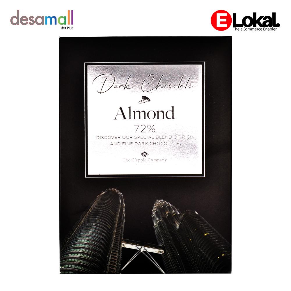 C\'APPLE Dark Chocolate Almond 72%