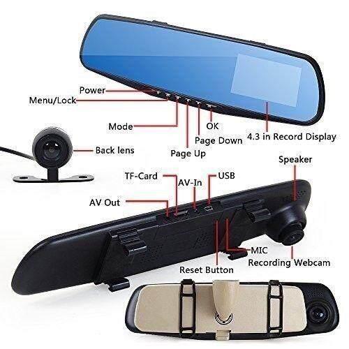 Vehicle Blackbox DVR Car Camcoder Rear Camera Rear Mirror Full HD1080P (Cheapest Price Guaranteed)