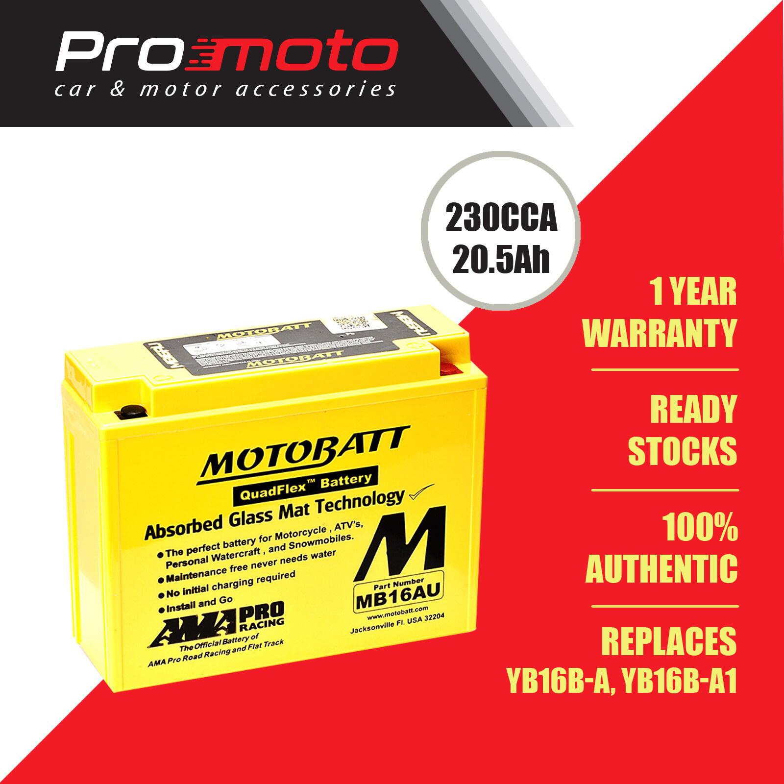 Motobatt Quadflex Battery MB16AU (FOR YAMAHA, DUCATI) (Replaces YB16B-A, YB16B-A1)