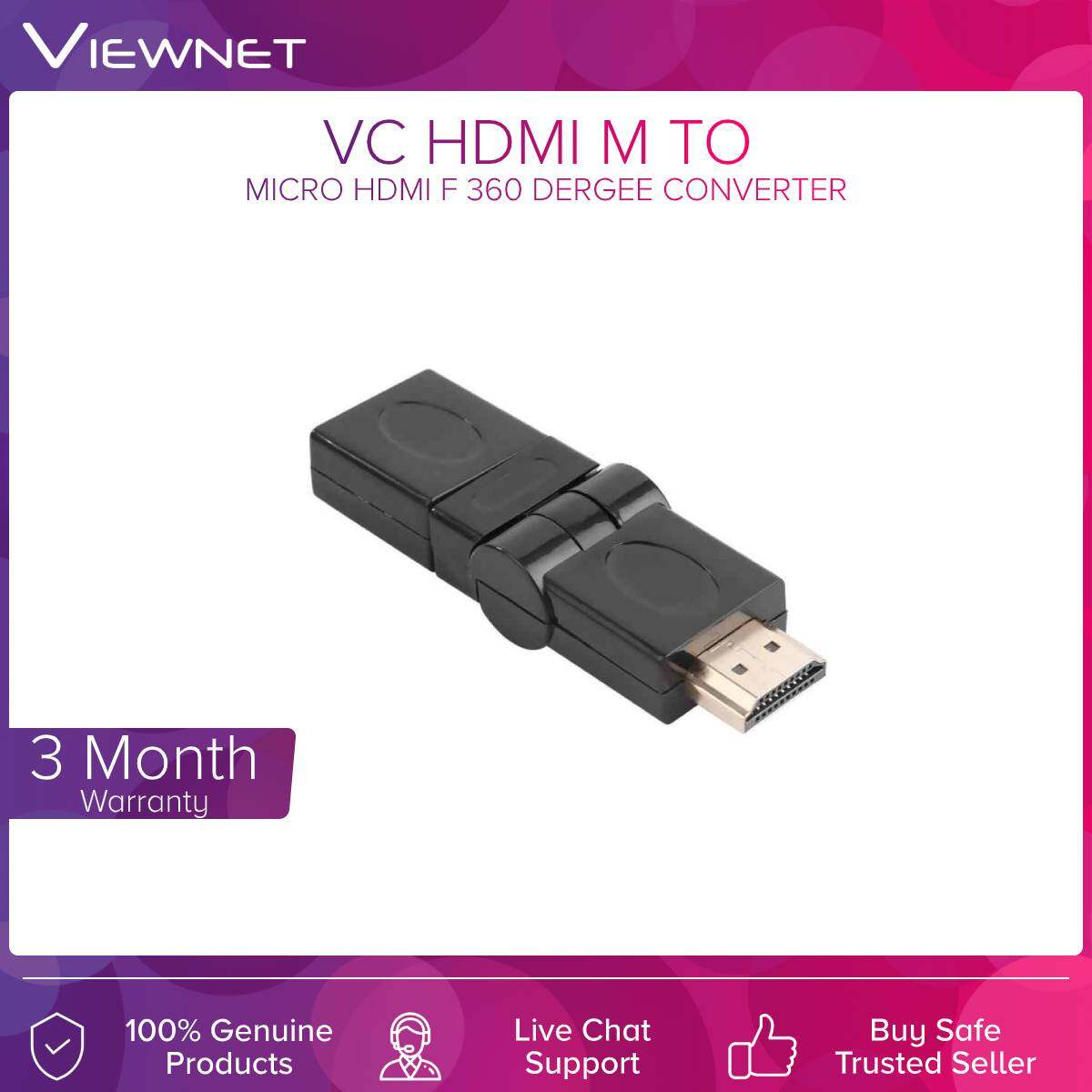 VC Hdmi M to Hdmi F 360° Converter