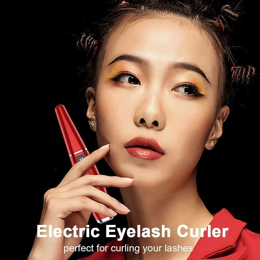 Best Selling Electric Eyelash Curler with Comb Design Rechargeable Heated Eyelash Curler Maker for Eyelashes Makeup (White)
