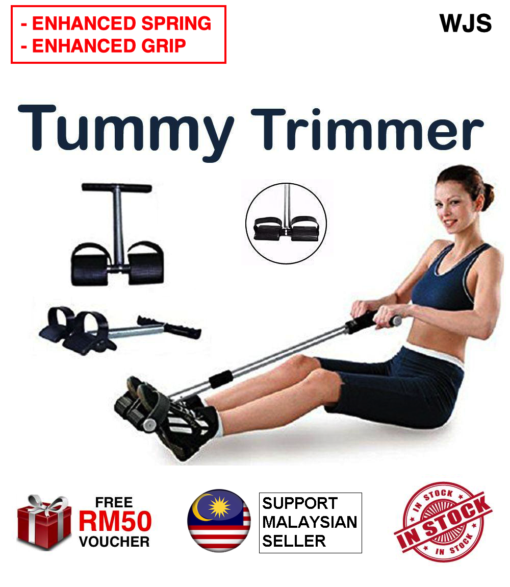 (ENHANCED VERSION) WJS Enhanced Spring and Grip Slimming Care Pedal Tummy Trimmer Equipment Home Gym Abdomen Trainer Cardio Yoga Fitness Pilate MULTICOLOR [FREE RM 50 VOUCHER]