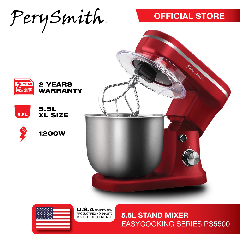 PerySmith 5.5L Stand Mixer 1200W EasyCooking Series PS5500PS5500