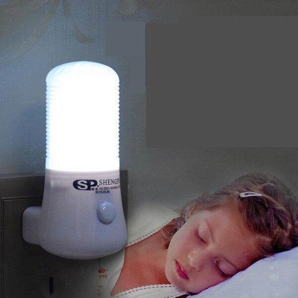 【Trang Trí】đèn Ngủ LED Đa Năng Đèn Cạnh Giường, Đèn Ban Đêm Cắm Tường Hành Lang Tủ Chén Gia Dụng