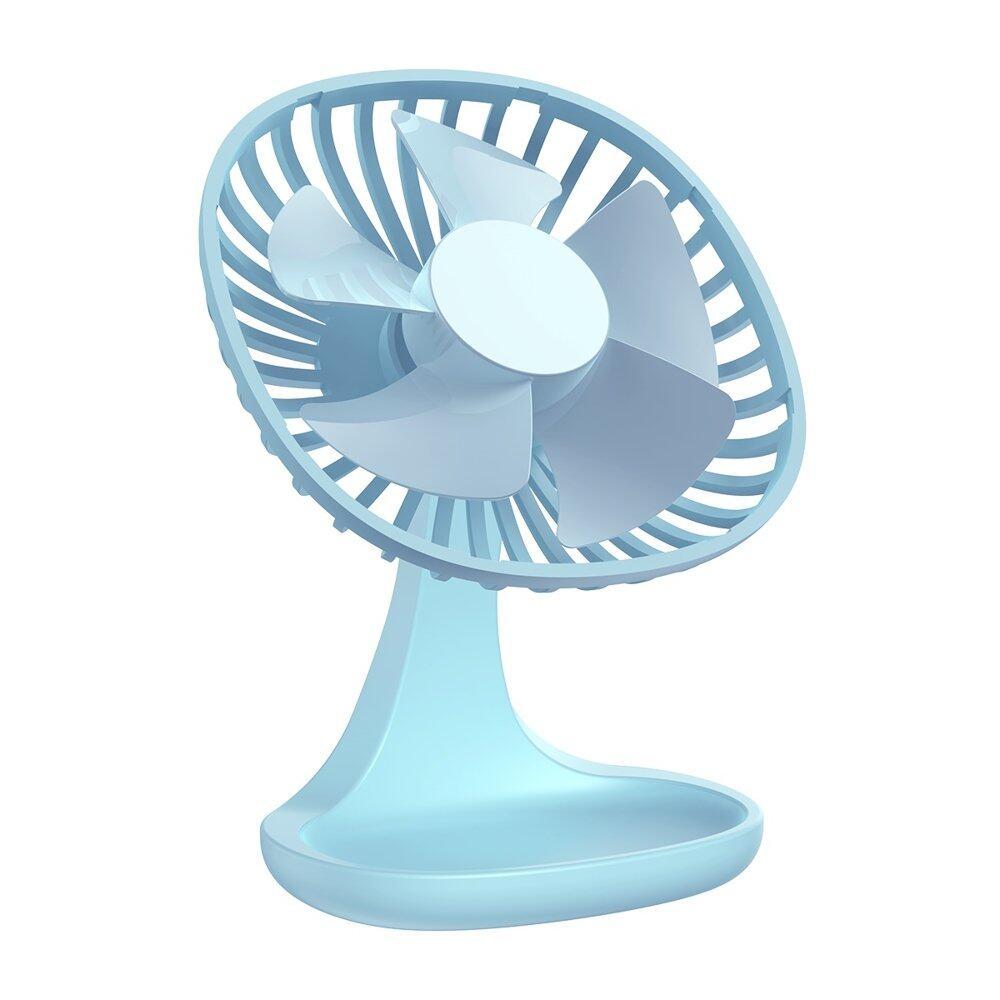 Baseus Pudding-Shaped Fan, 3 Speeds adjustable, Low Noise, 5V 1A, Micro USB Port, White / Pink / Blue