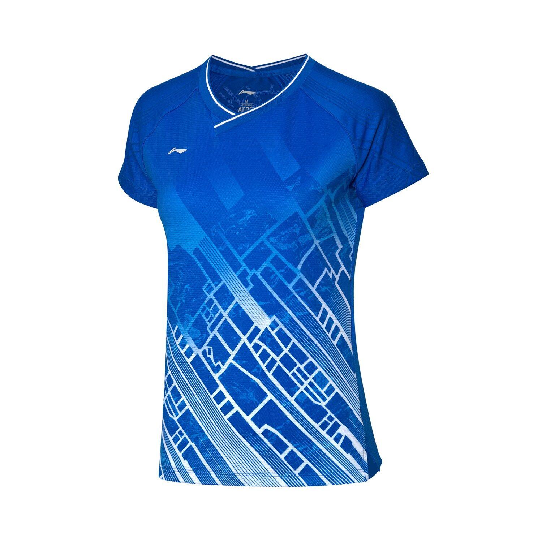 Li-Ning Women's Badminton Jersey - Blue AAYP116-1
