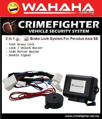 Crime Fighter AXIA SE Spec 2014 - 2016 2IN1 Plug & Play Brake Lock System And Buzzer