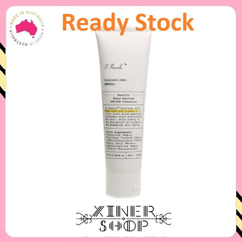 [Ready Stock] Unichi-11 Pearls Sunscreen Lotion SPF50+ ( 60ml ) (Made in Australia)
