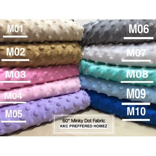 60 Minky Dot Fabrics- Ready Stock (Price per meter)