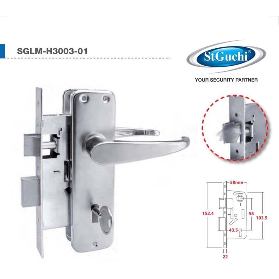 St Guchi Mortise Lock 2-Level<SH-3003> (100%Original)