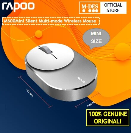 Rapoo M600 Mini Size Multi-mode Wireless Silent Mouse Bluetooth 3.0 4.0 with Wireless 2.4G Mouse pc Mouse for Home Office