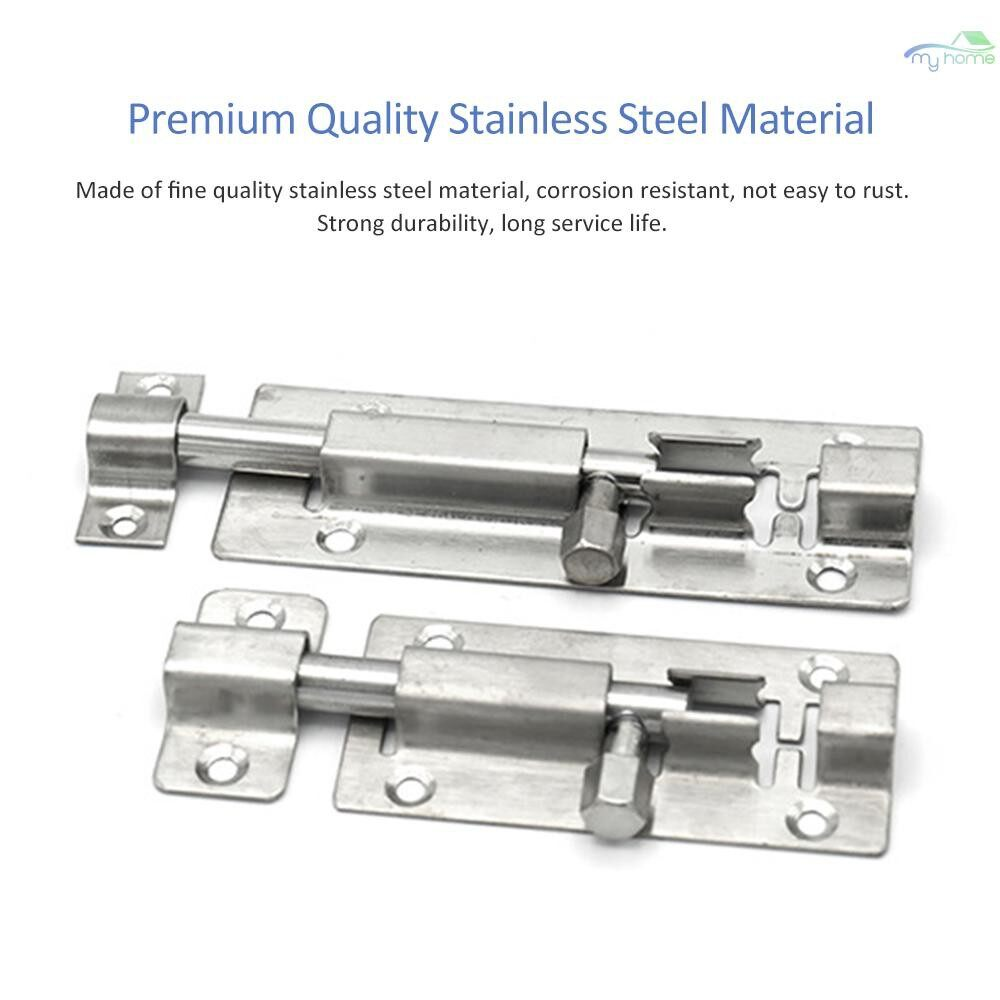 Chains & Locks - 2 PIECE(s) 1.5 Inch Stainless Steel Slide Latch Lock Barrel Bolt Door Latch Sliding Lock - 1.5 INCH X 2 PIECES / 4 INCH / 3 INCH