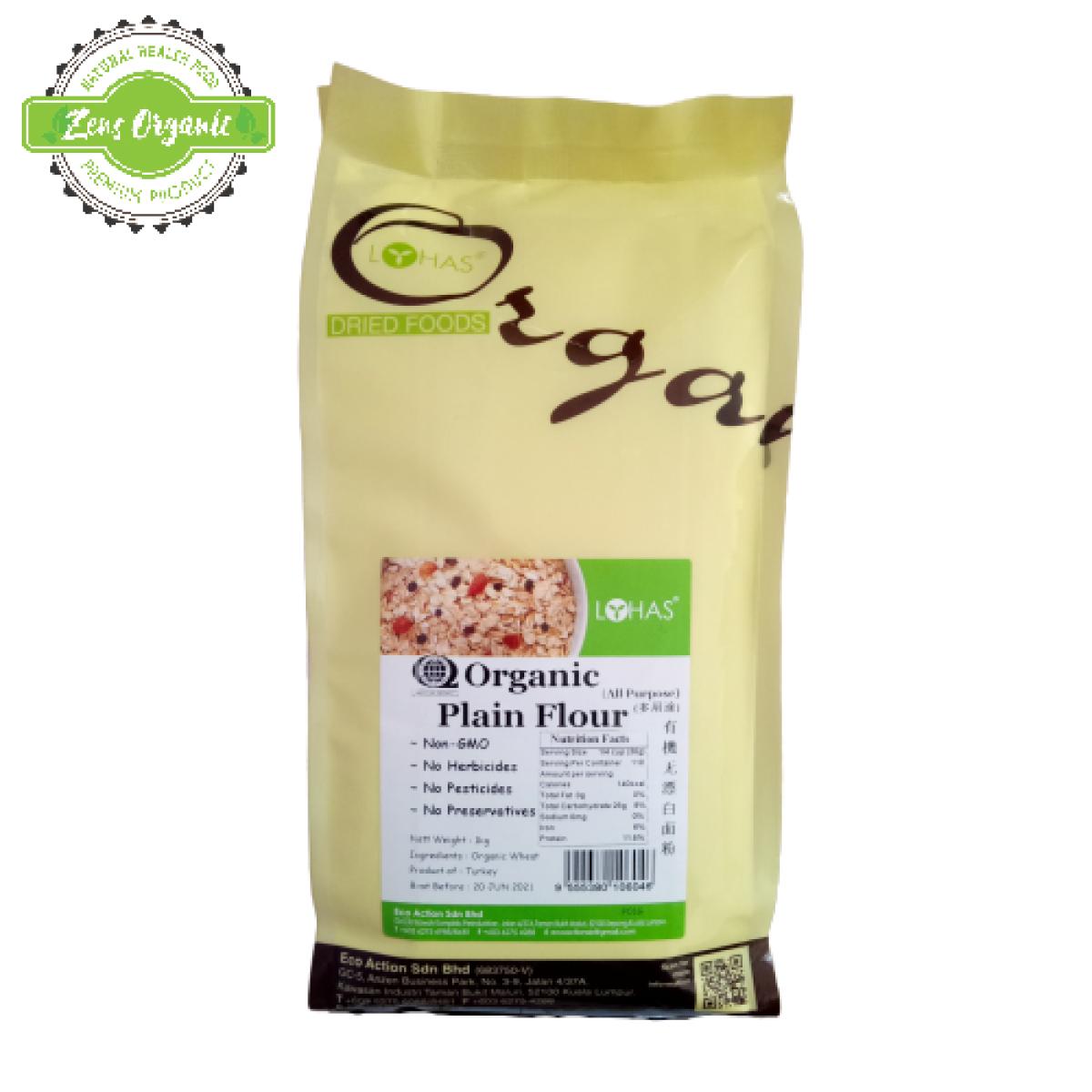 Lohas Organic Plain Flour (All Purpose) 1kg (Product of Turkey)
