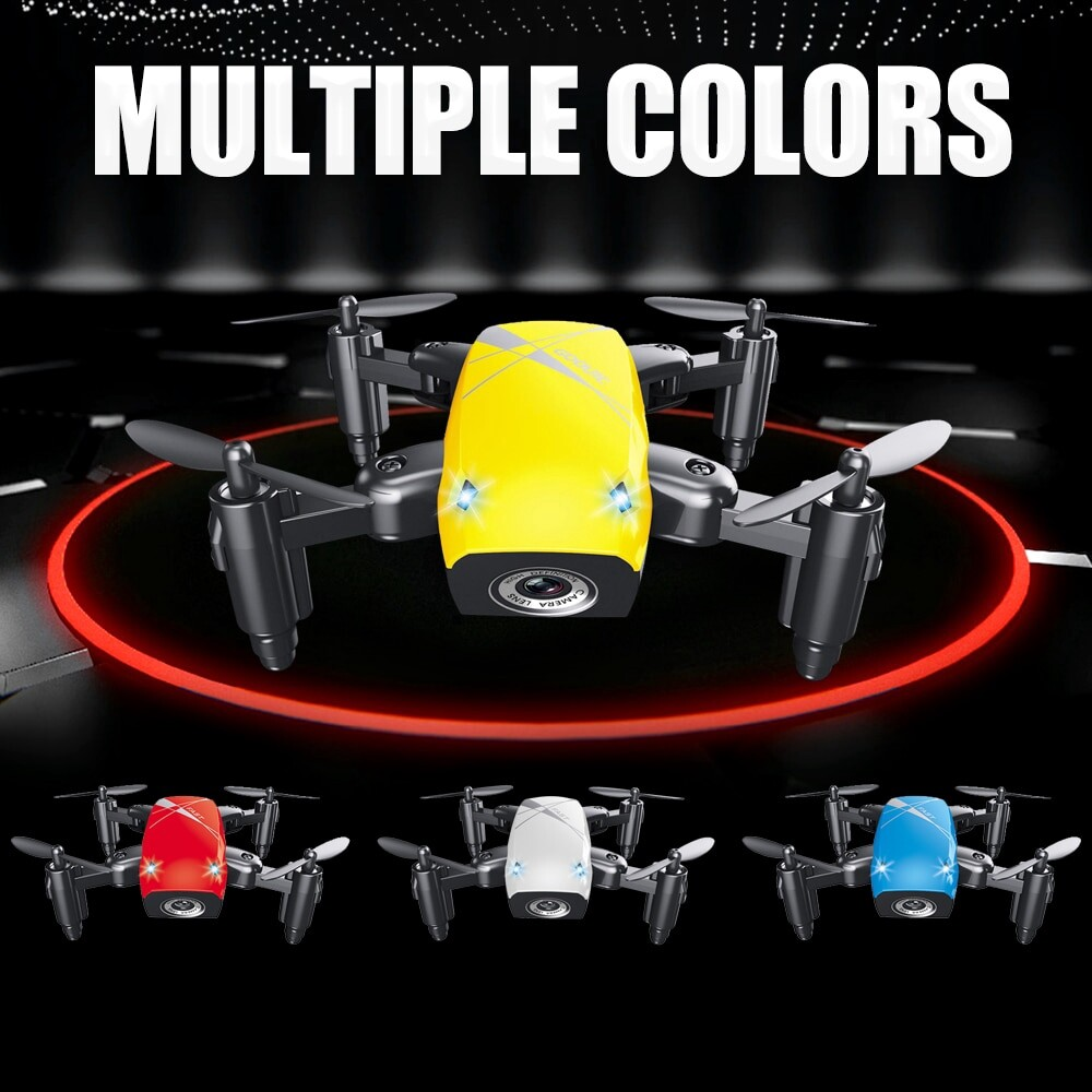 S9HW MINI Drone RC Helicopter Quadcopter WiFi FPV Pocket Dron Toy - RED / WHTIE