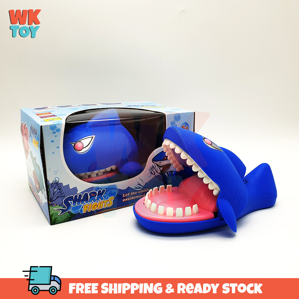 WK Shark Bite Finger Sound Light Funny Snapping Teeth Excited Game Challenge