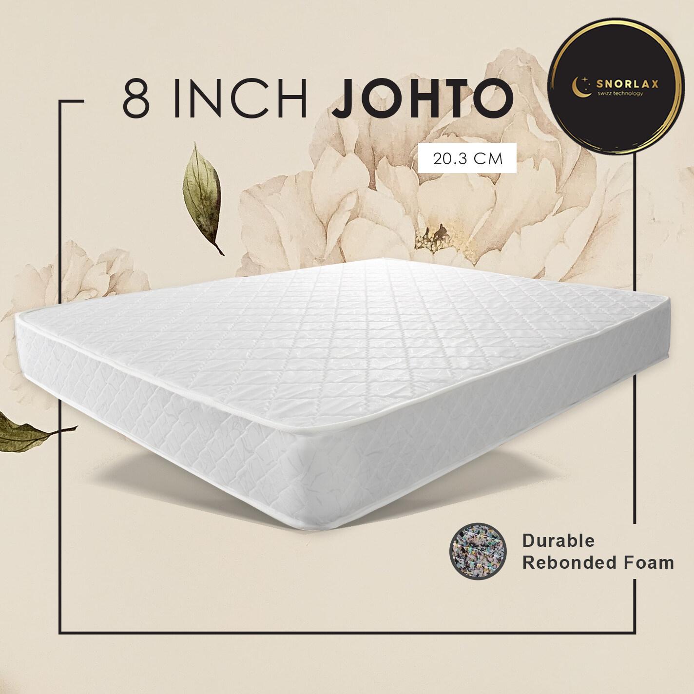 Snorlax Johto (Single) (Queen) Rebond Foam Mattress (3' x 8'') (5' x 8'') *Random Fabric Design*