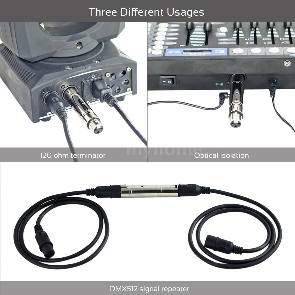 Lighting - MINI DMX512 Mutifunctional Optical Repeater Amplifier 3 Pin XLR Input and Output for Stage Light DJ - Home & Living