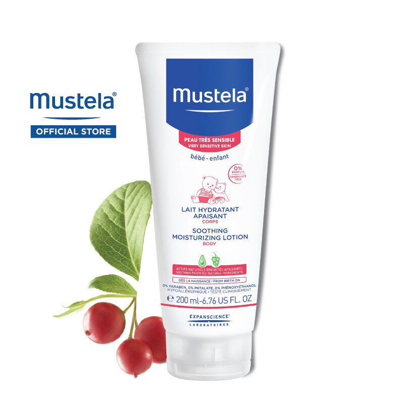 MUSTELA Soothing Moisturizing Lotion for Very Sensitive Skin (200ml)