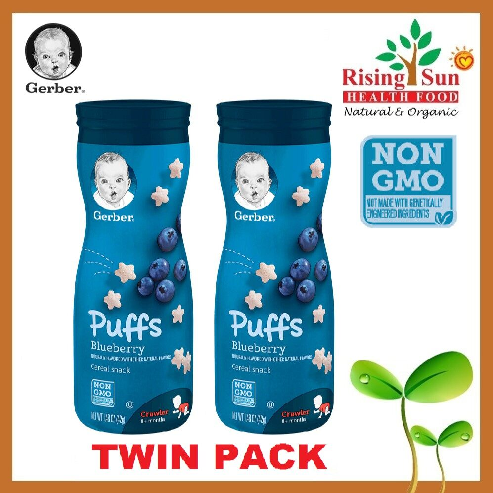 Gerber Puffs Cereal Snack Blueberry (42g / 1.48 OZ x 2) - TWIN PACK