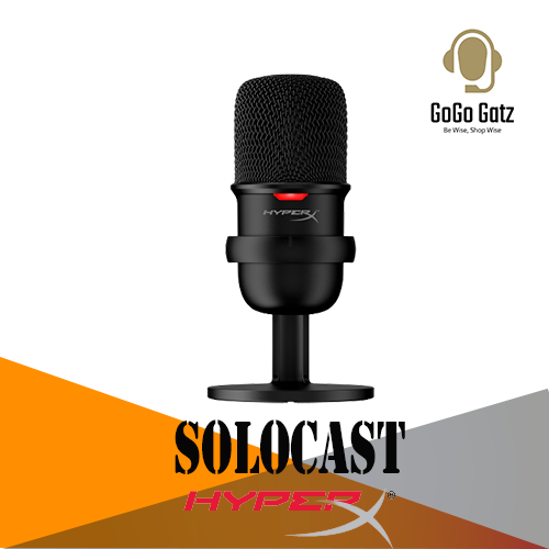 {HMIS1X-XX-BK/G}{Ship Out Within 24 Hours} HyperX SoloCast USB Gaming Microphone for streamers and content creators