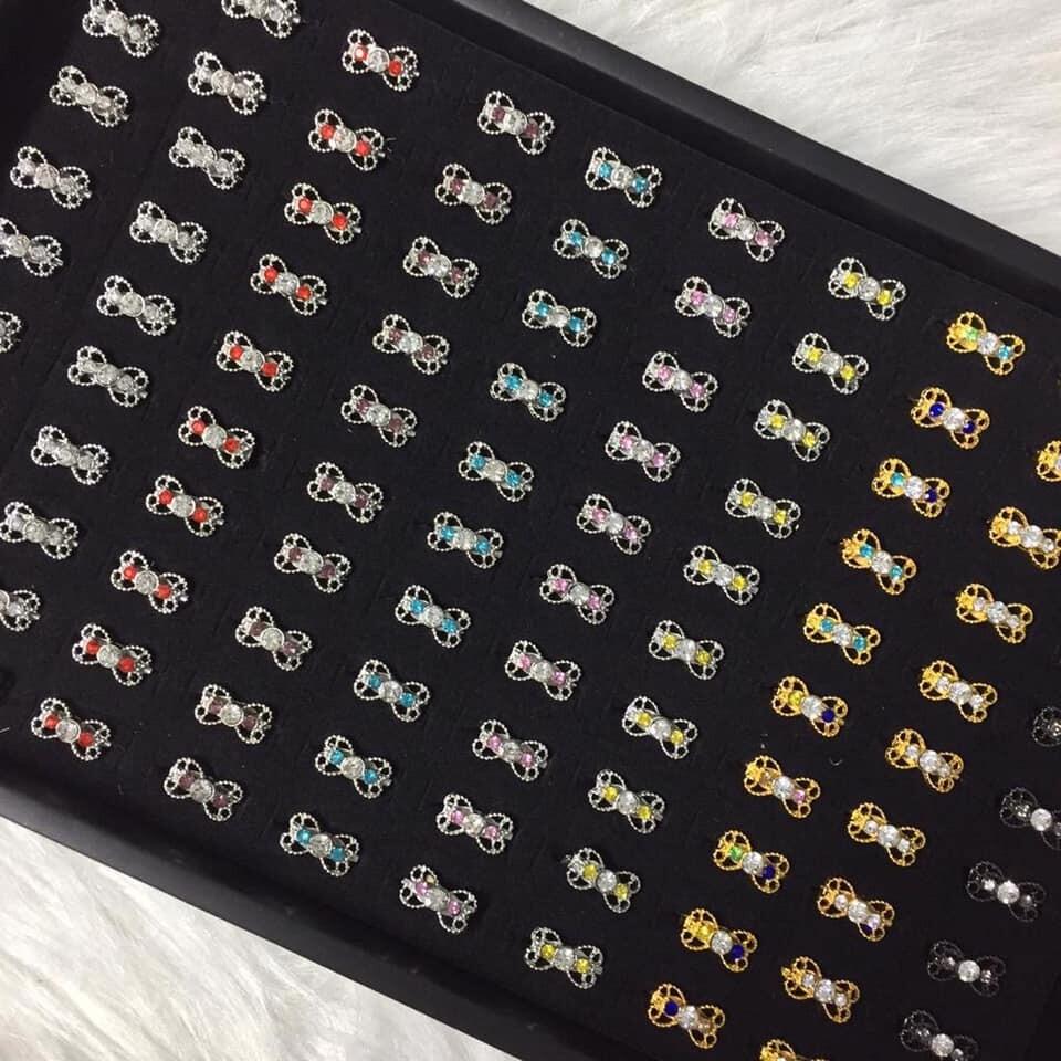 (MD66) 100PCS BABY BROOCH / KERONGSANG 2~3 DIAMOND TYPE 4