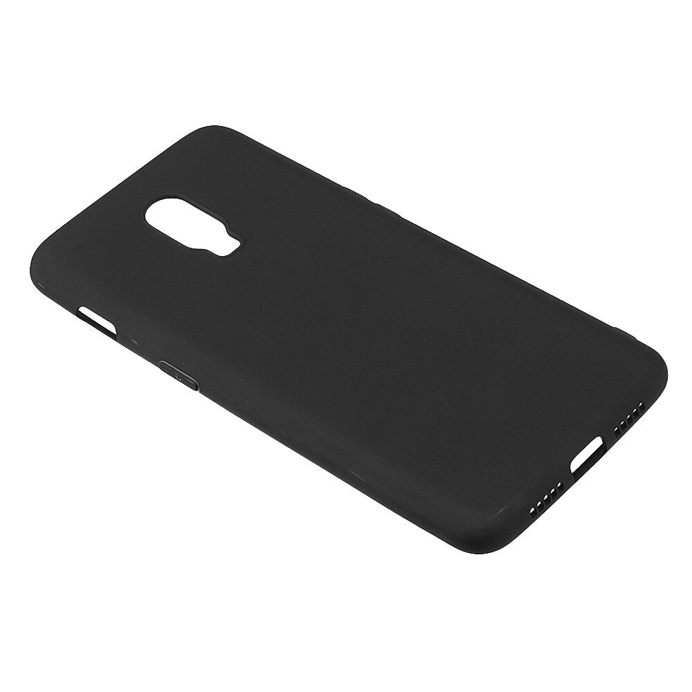 iPh Soft Cover - Matte ULTRA Thin Soft TPU Back Cover Protective Case for OnePlus 6T - PINK / DARK BLUE / RED / WHITE / BLACK