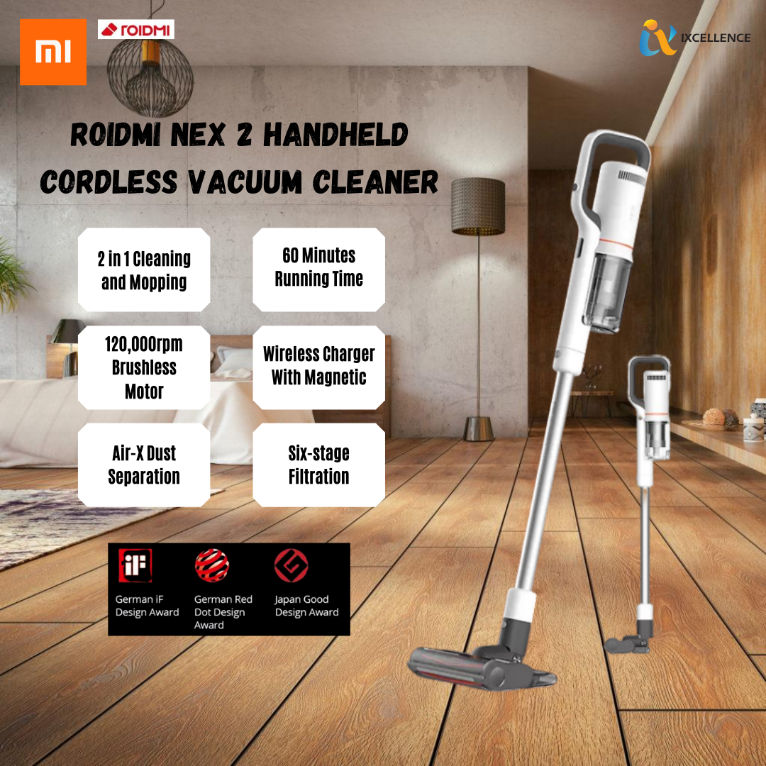 [IX] XIAOMI MIJIA ROIDMI NEX 2 HANDHELD CORDLESS VACUUM CLEANER 26500Pa SUCTION (BLACK) 3054960