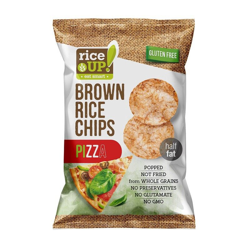 Rice Up Brown Rice Chips With Pizza 65G x2 - TWIN PACK