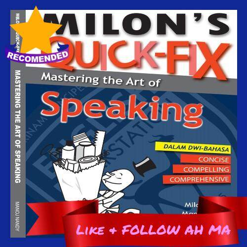 Best Selling Milon's Quick-Fix: The Art of Speaking Suitable for PT3 SPM TESL TOEFL IELTS MUET Dual Language Dwi-Bahasa (Ready Stock)