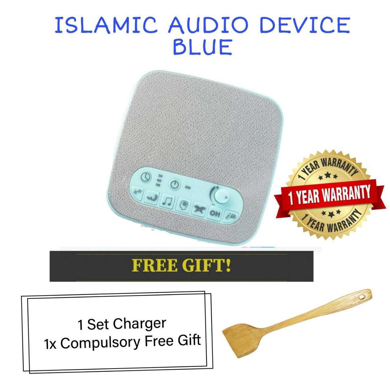 (READY STOCK) ISLAMIC AUDIO DEVICE MOMMYHANA X OMAR HANA (BLUE) (4)