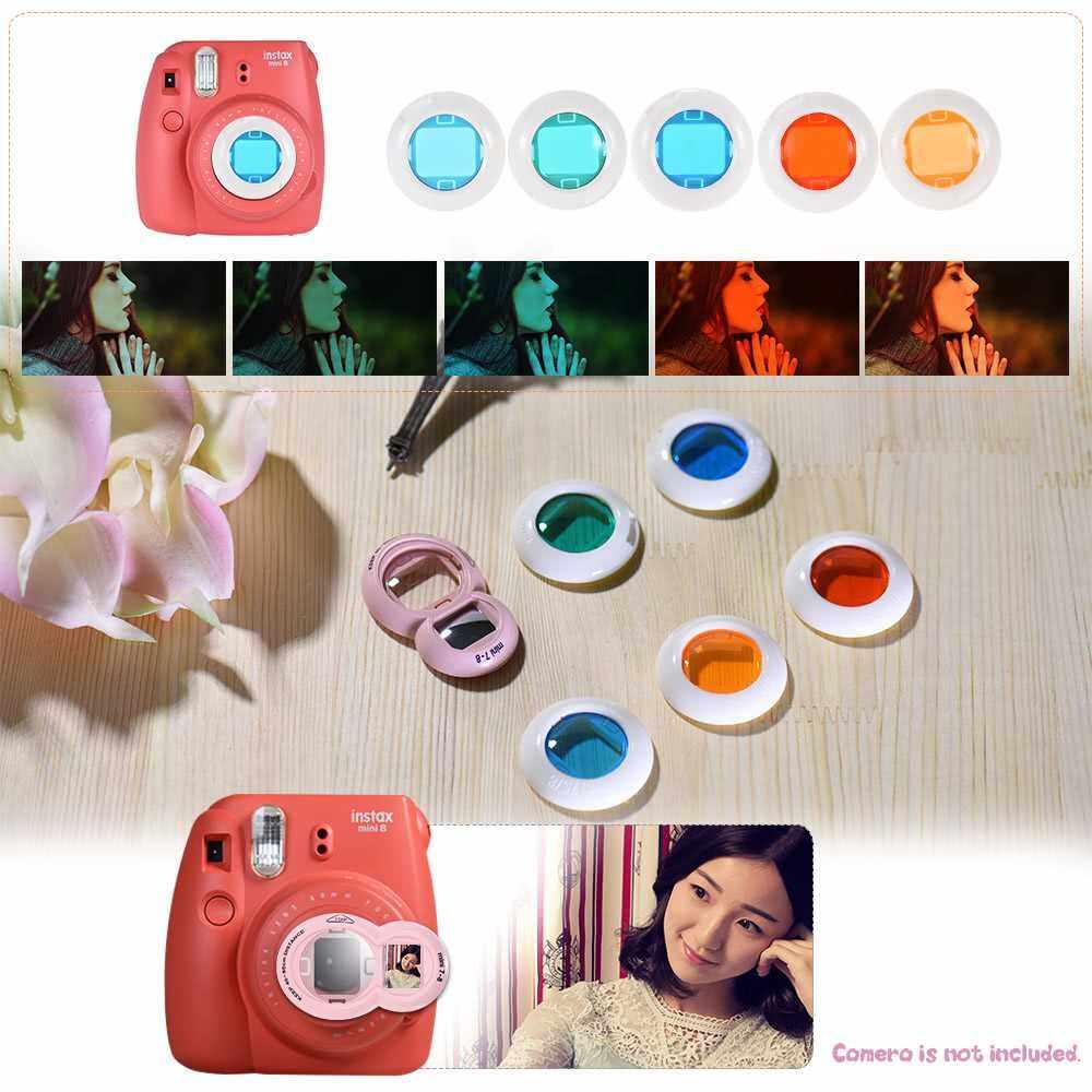 Andoer 14 in 1 Accessories Kit for Fujifilm Instax Mini 8/8+/8s/9 w/ Camera Case/Strap/Sticker/Selfie Lens/5*Colored Filter/Album/3 Kinds Film Table Frame/10*Wall Hanging Frame/40*Border Sticker/2*Corner Sticker/Pen (Multi-Clolor)