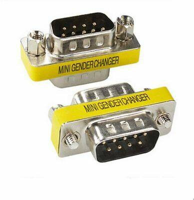 Mini Gender DB9 Male To Male Changer Converter Adapter
