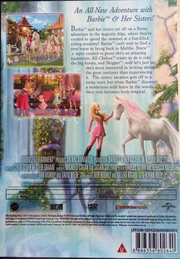 Barbie And Her Sisters In A Pony Tale Movie VCD