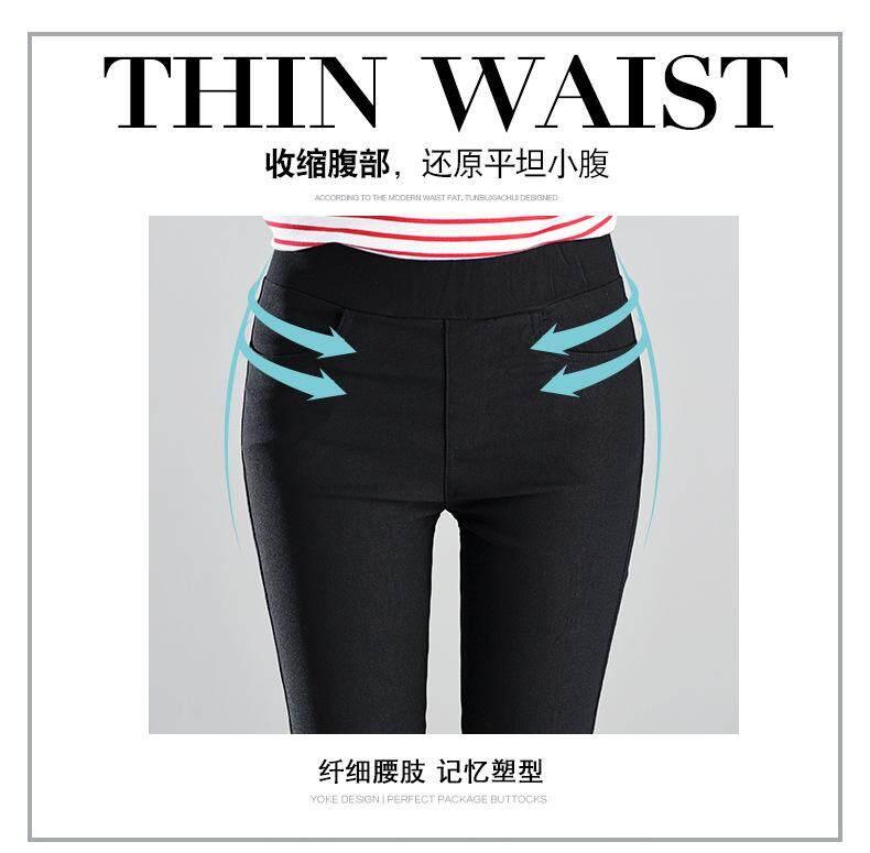 Plus Size Slim Thin High Elastic Skinny Jeans High Waist Stretch Legging Pants